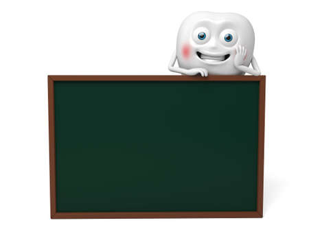 The tooth and a blackboard
