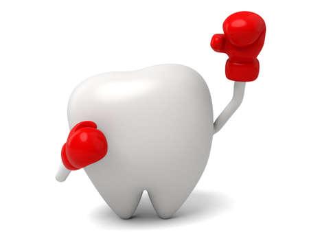 Il dente è un boxer Archivio Fotografico - 54900520