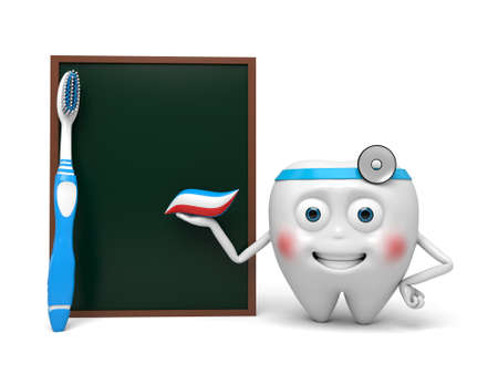The dentist and a blackboard