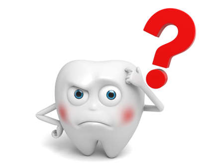 questions: The tooth had a doubt Stock Photo