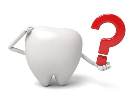 had: The tooth had a doubt Stock Photo