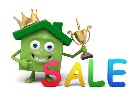 Het huis is te koop Stockfoto - 54901169