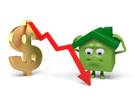 house prices: House prices are falling