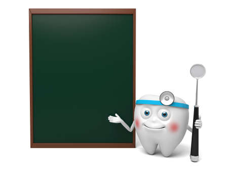 The dentist is teaching