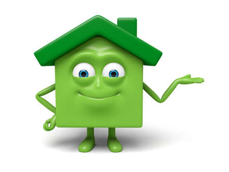 recommend: The house pose a personal gesture Stock Photo