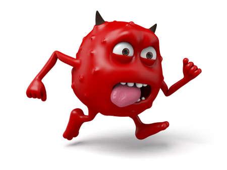 ebullient: An ebullient devil Stock Photo