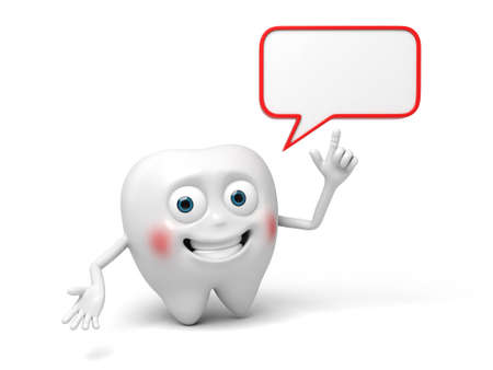 said: The tooth said some words Stock Photo
