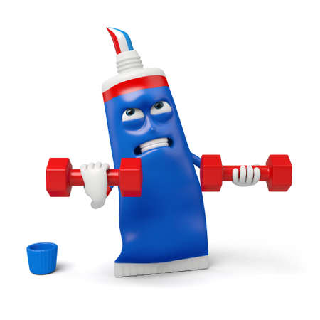 lifted: The toothpaste lifted the dumbbell with ease