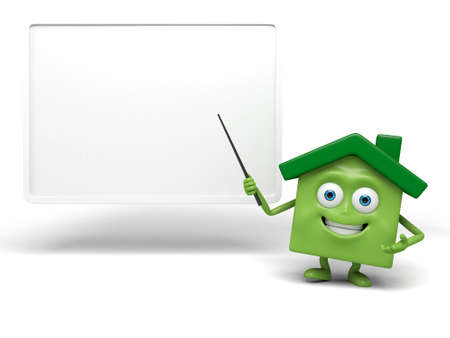 home sale: The house is teaching something Stock Photo