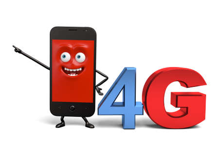 The cellphone is 4G network