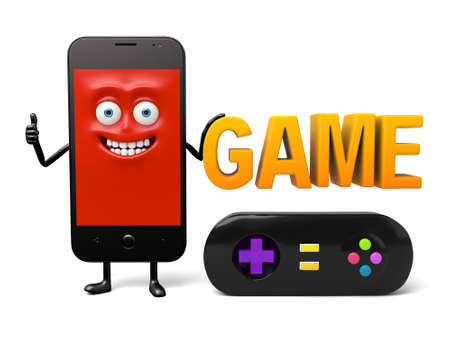 has: The smartphone has a gamepad