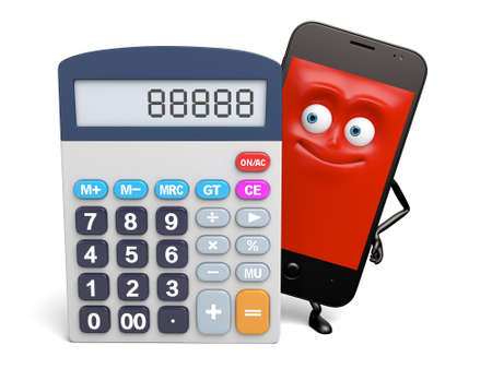 has: The smartphone has a calculator