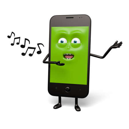 smartphone: The smartphone is singing