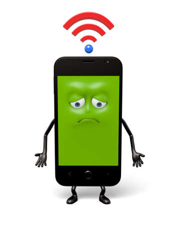 has: The smartphone has not a WiFi connection