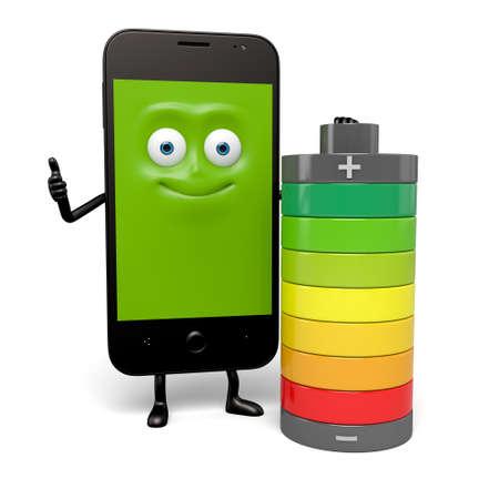 スマート フォンのバッテリーの容量は非常に良い 写真素材