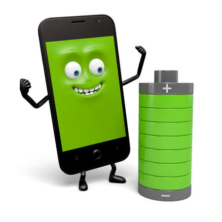 mobile phones: The smartphone battery is full