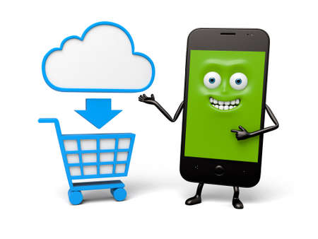 likes: The smartphone likes shopping on the internet