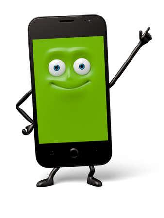 The smartphone pose a personal gesture Banco de Imagens
