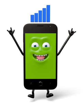 The smartphone signal is very good Stok Fotoğraf