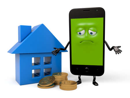 The smartphone felt a lot of pressure on the mortgage Stock fotó