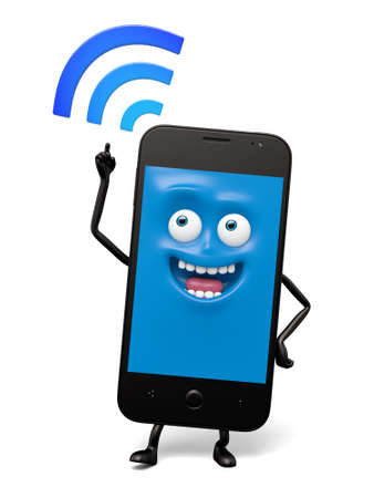 has: The smartphone has a WiFi connection