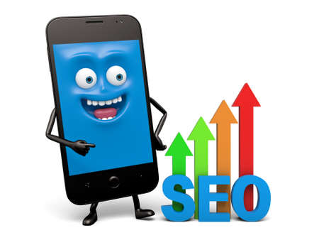 A smartphone and a SEO model