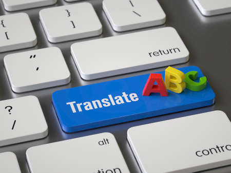 Translate key on the keyboard Stock Photo