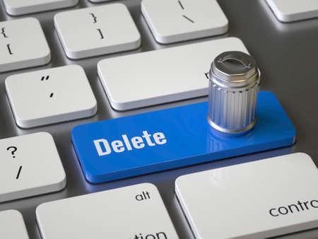 Supprimer la touche du clavier Banque d'images