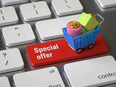 Special offer key on the keyboard