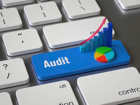 Audit key on the keyboard Stock fotó