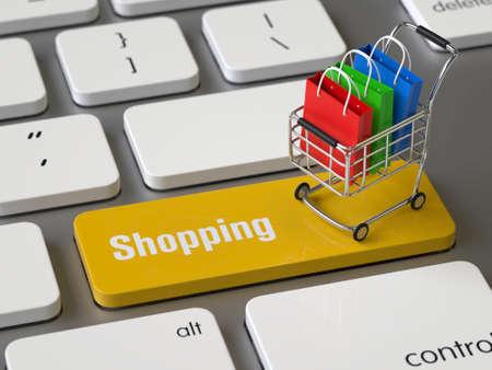 Shopping key on the keyboard