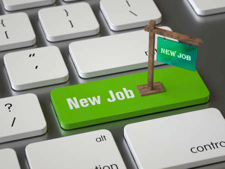 New Job key on the keyboard Banque d'images - 108305107