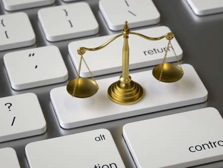 Balance on the keyboard Stock fotó