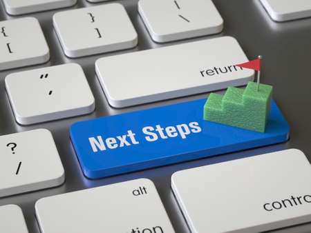 Tecla de pasos siguientes en el teclado
