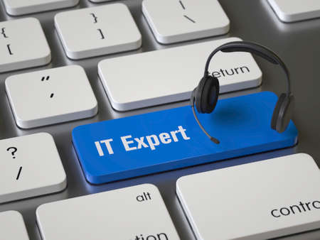 IT Expert key on the keyboard Stock fotó