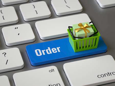 Order key on the keyboard Stock Photo
