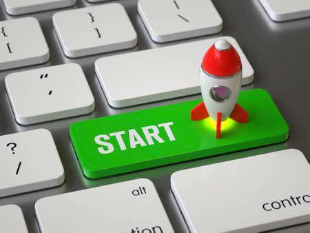 Start key on the keyboard