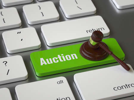 Auction key on the keyboard