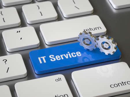 IT Service key on the keyboard Stock fotó