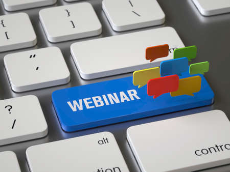 Webinar key on the keyboard