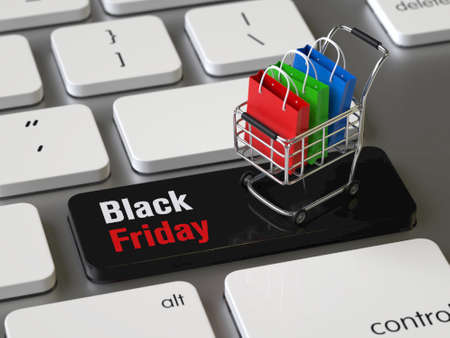 Black Friday key on the keyboard