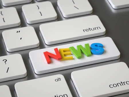 News key on the keyboard Stock fotó