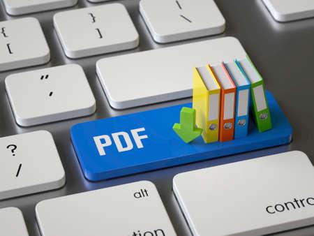 Pdf key on the keyboard Stock fotó