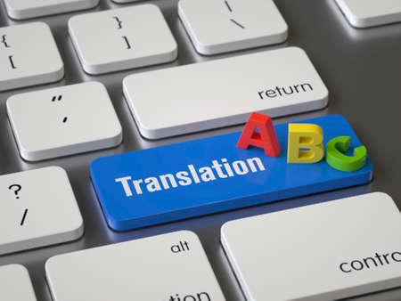 Touche de traduction sur le clavier
