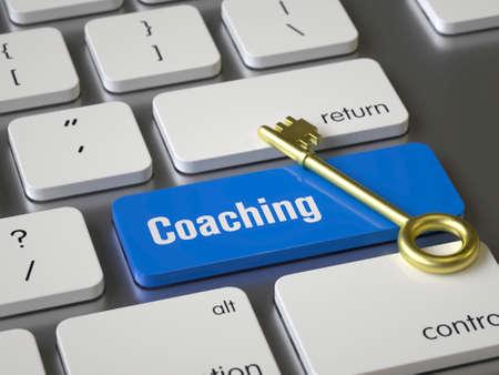 Coaching key on the keyboard
