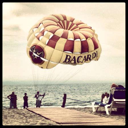 Branded parachuted in Puerto Vallarta Mexico.