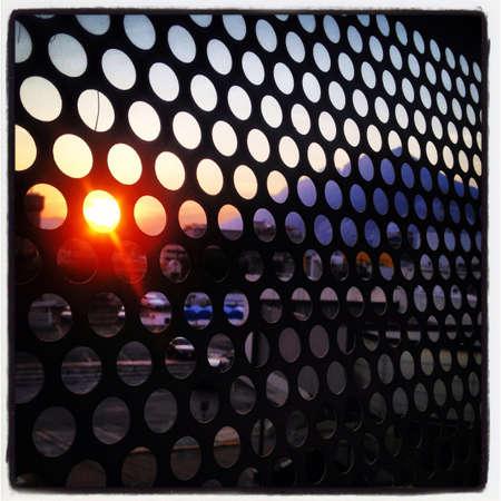 grid: Sunset in Monterrey Mexico.
