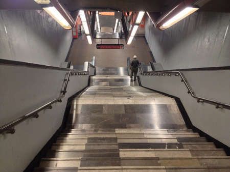 Empty day at Mexico Citys underground.