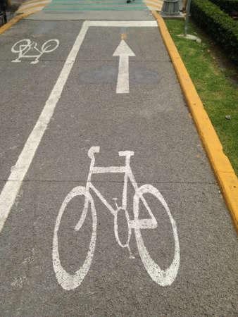 Bike lane in Lomas de Chapultepec zone Mexico City Banco de Imagens