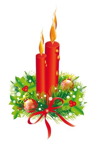 velas de navidad: Guirnalda de la Navidad, �rbol de Navidad, Navidad, A�o Nuevo, fondo Vectores